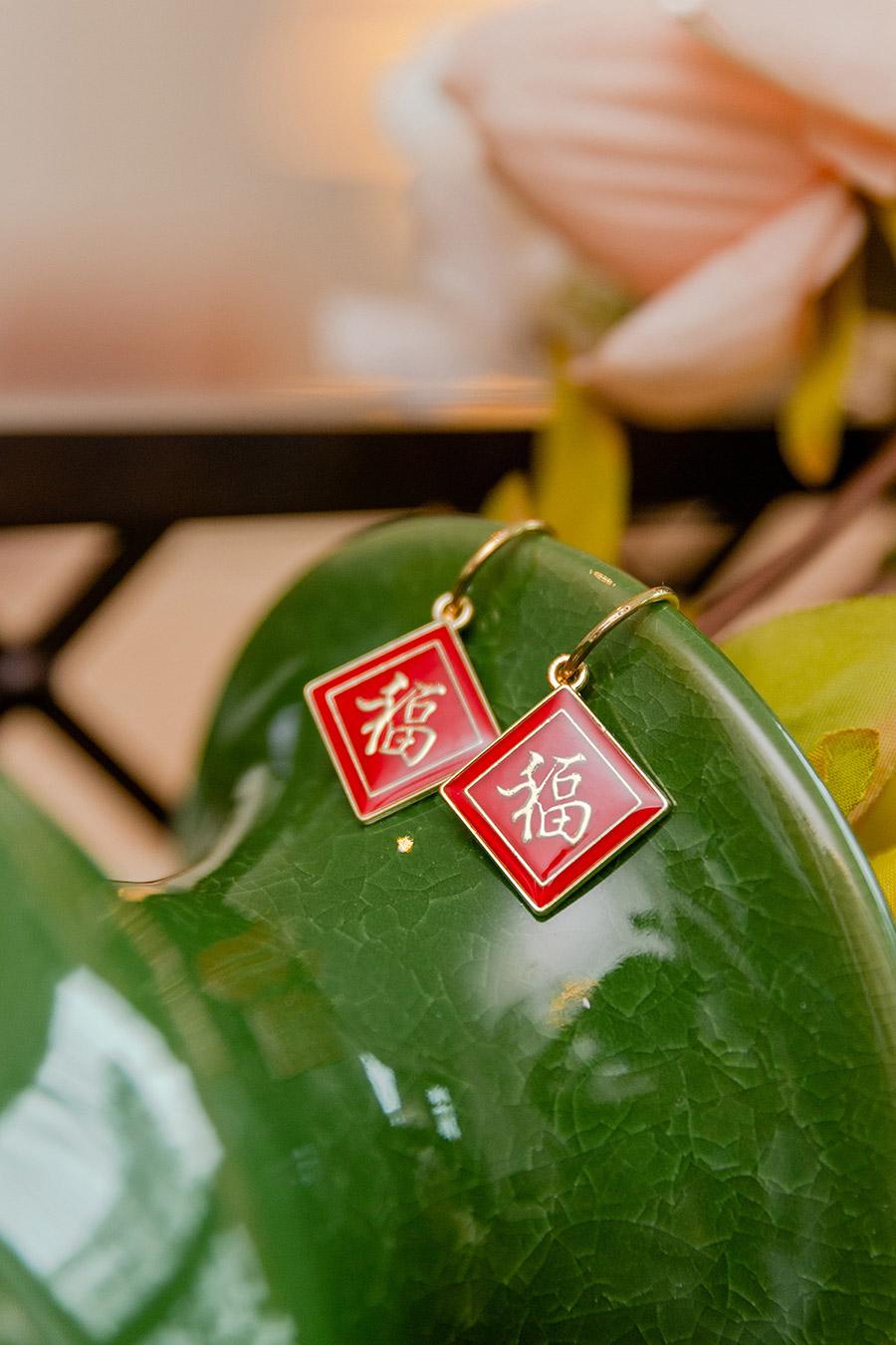 FU HONG EARRING - SCARLET