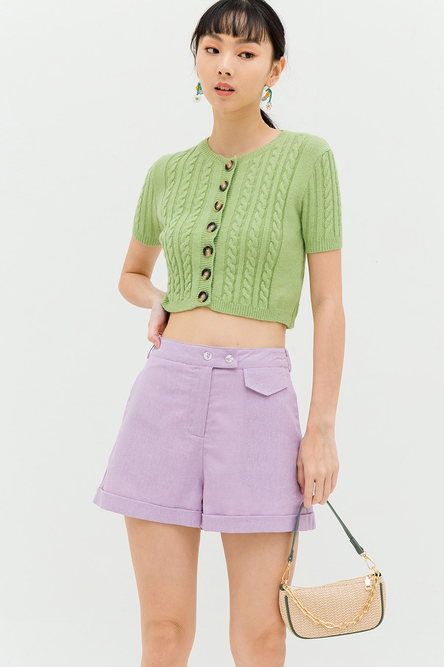 *RESTOCKED* FULTON SHORTS - LAVENDER [BY MODPARADE]