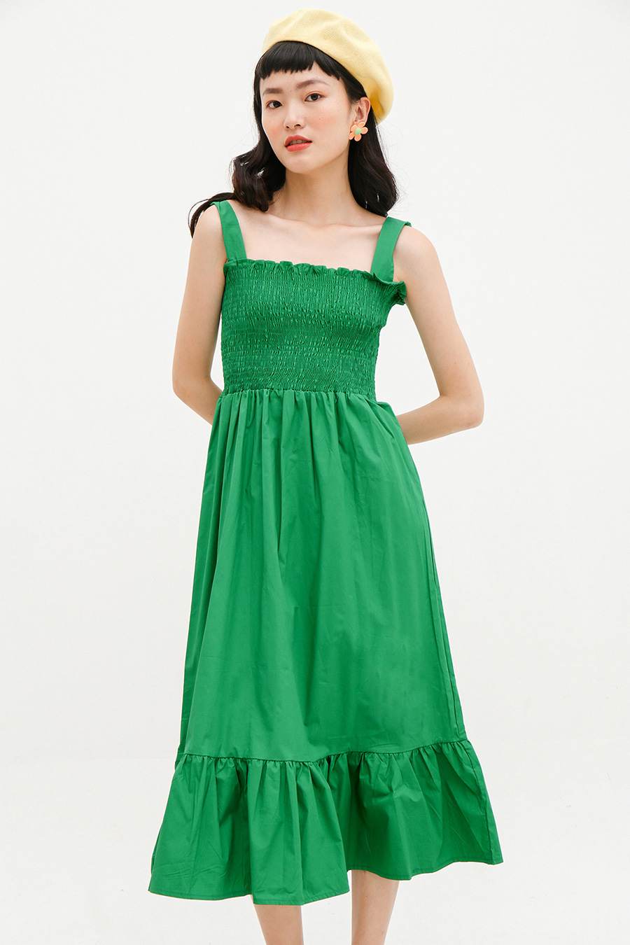 GALOPIN DRESS - EMERALD
