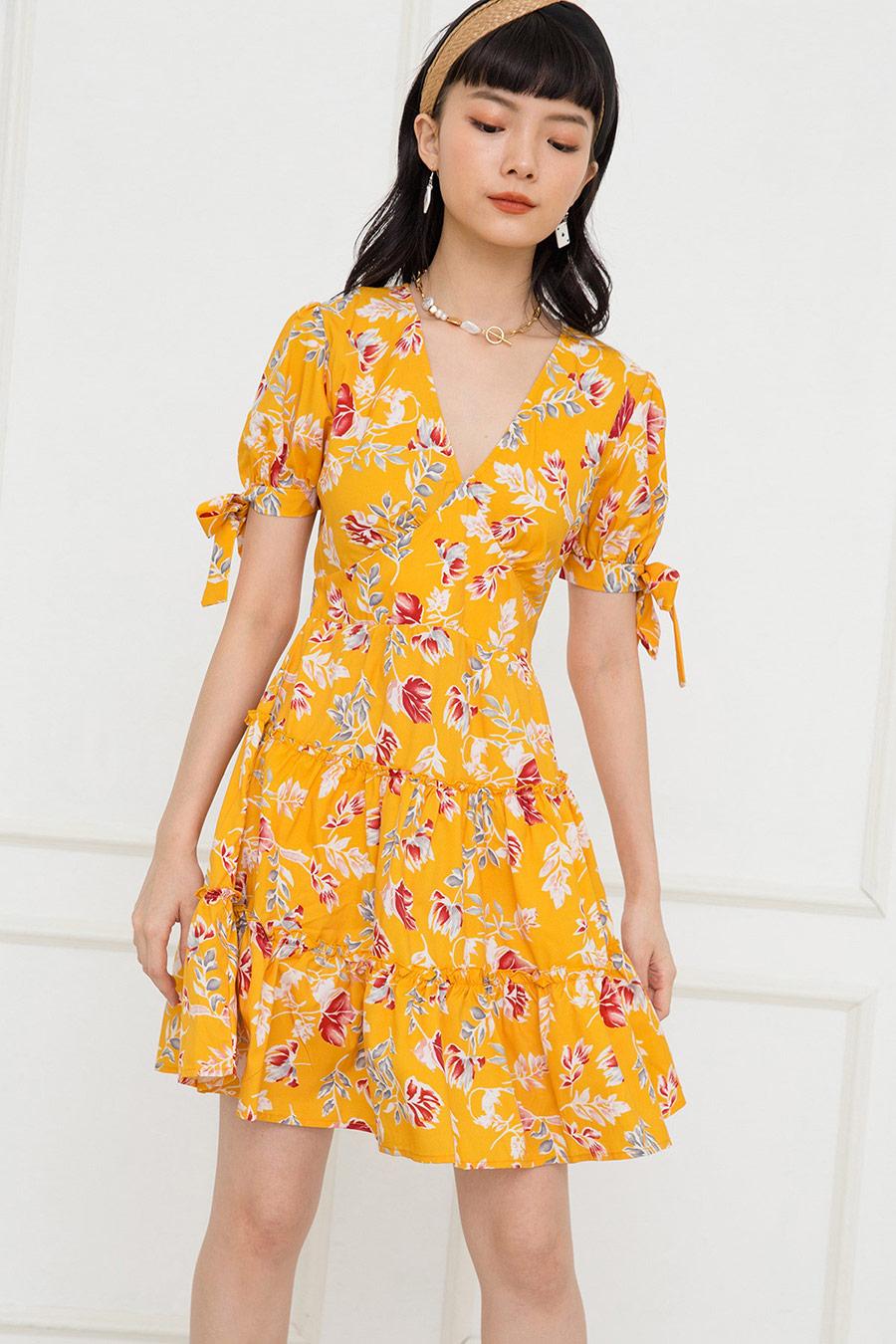 GARCON DRESS - CANARY FLEUR