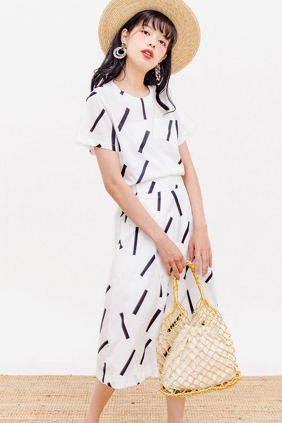 GEESJE MIDI DRESS - IVORY SPRINKLES