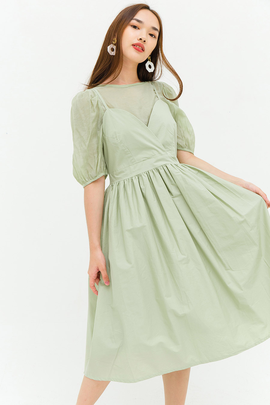 GENEVIEVE DRESS - SAGE
