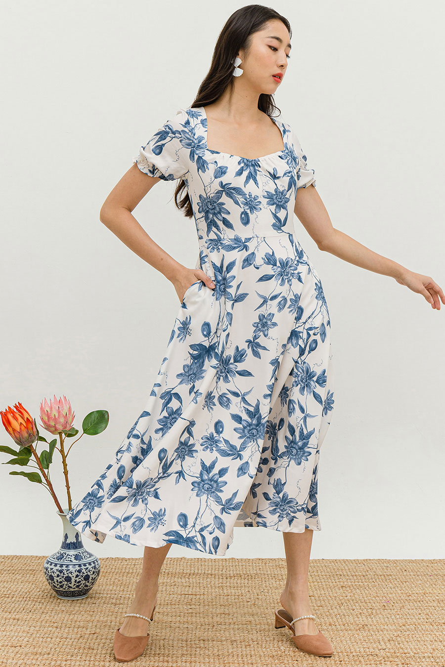*RESTOCKED* GEOFFROY DRESS - MING FLEUR [BY MODPARADE]