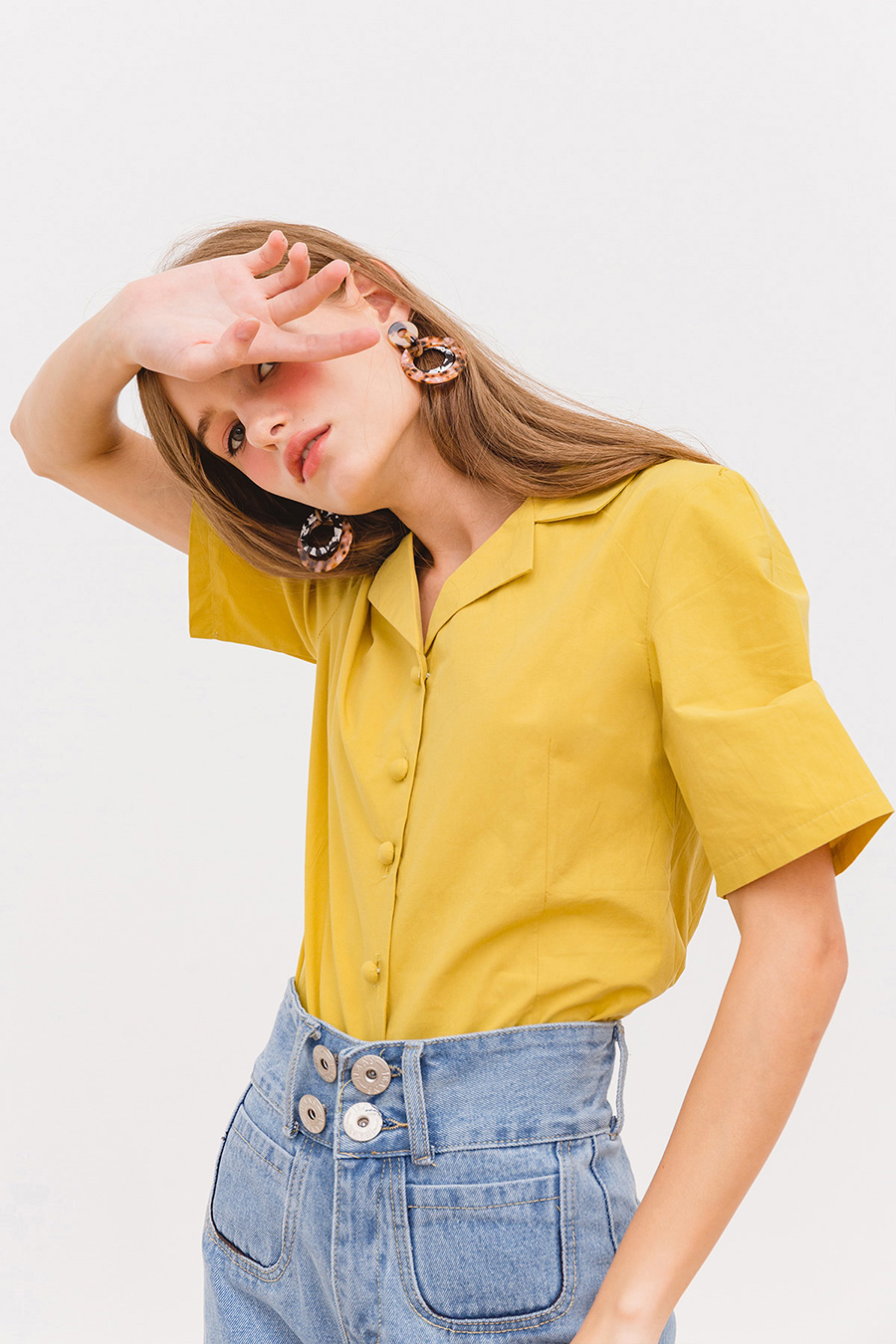 GEORGETTE TOP - BUTTERSCOTCH