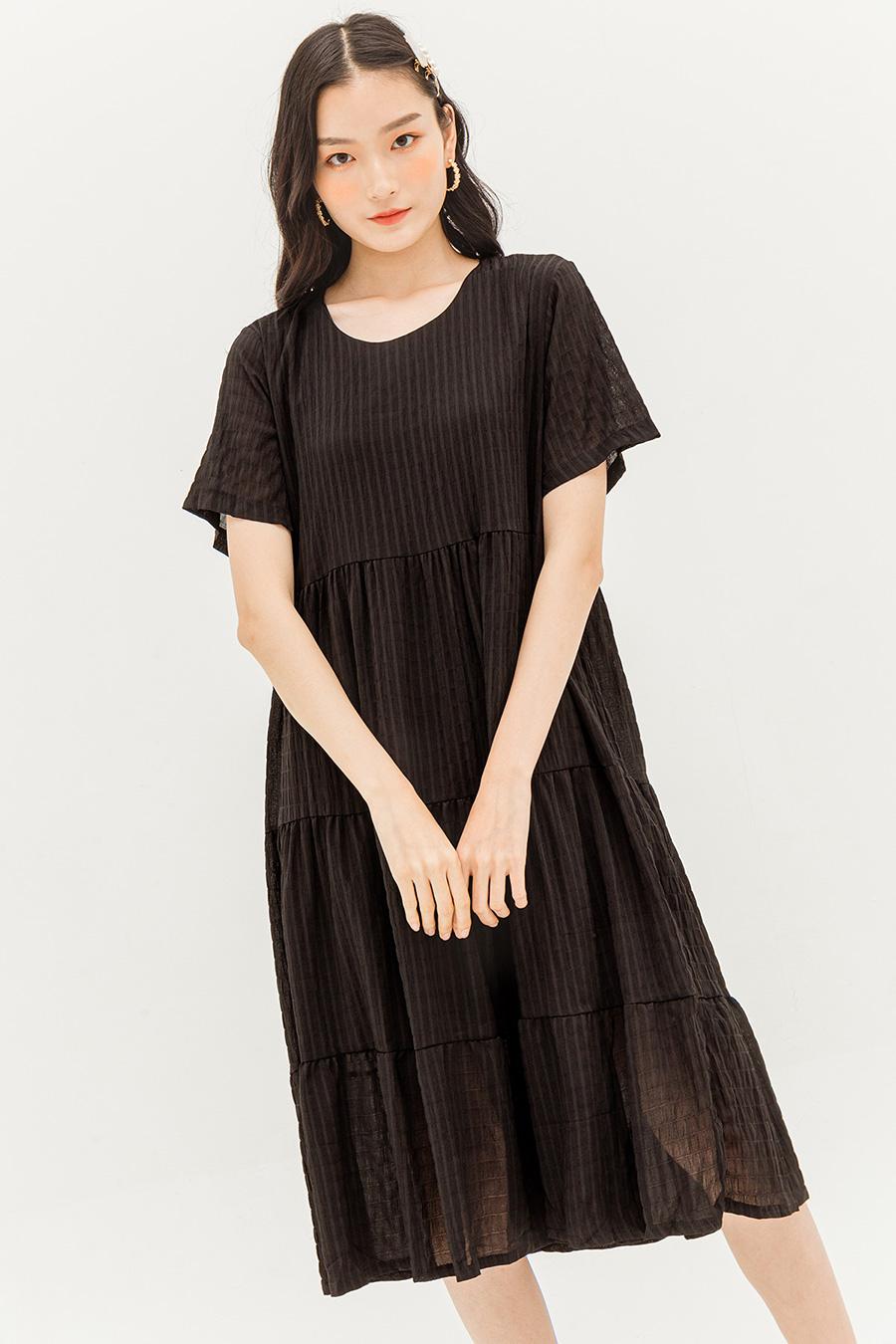GEORGIA DRESS - NOIR