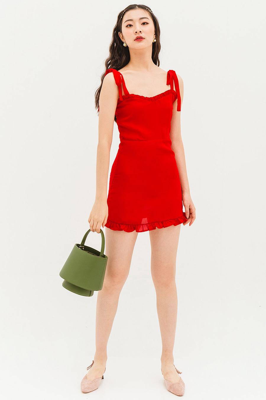 GRANITA DRESS - SCARLET