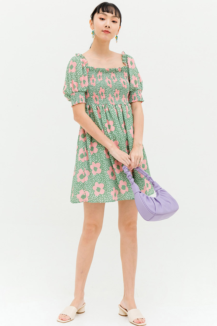 GRIFFITH DRESS - MINT FLEUR