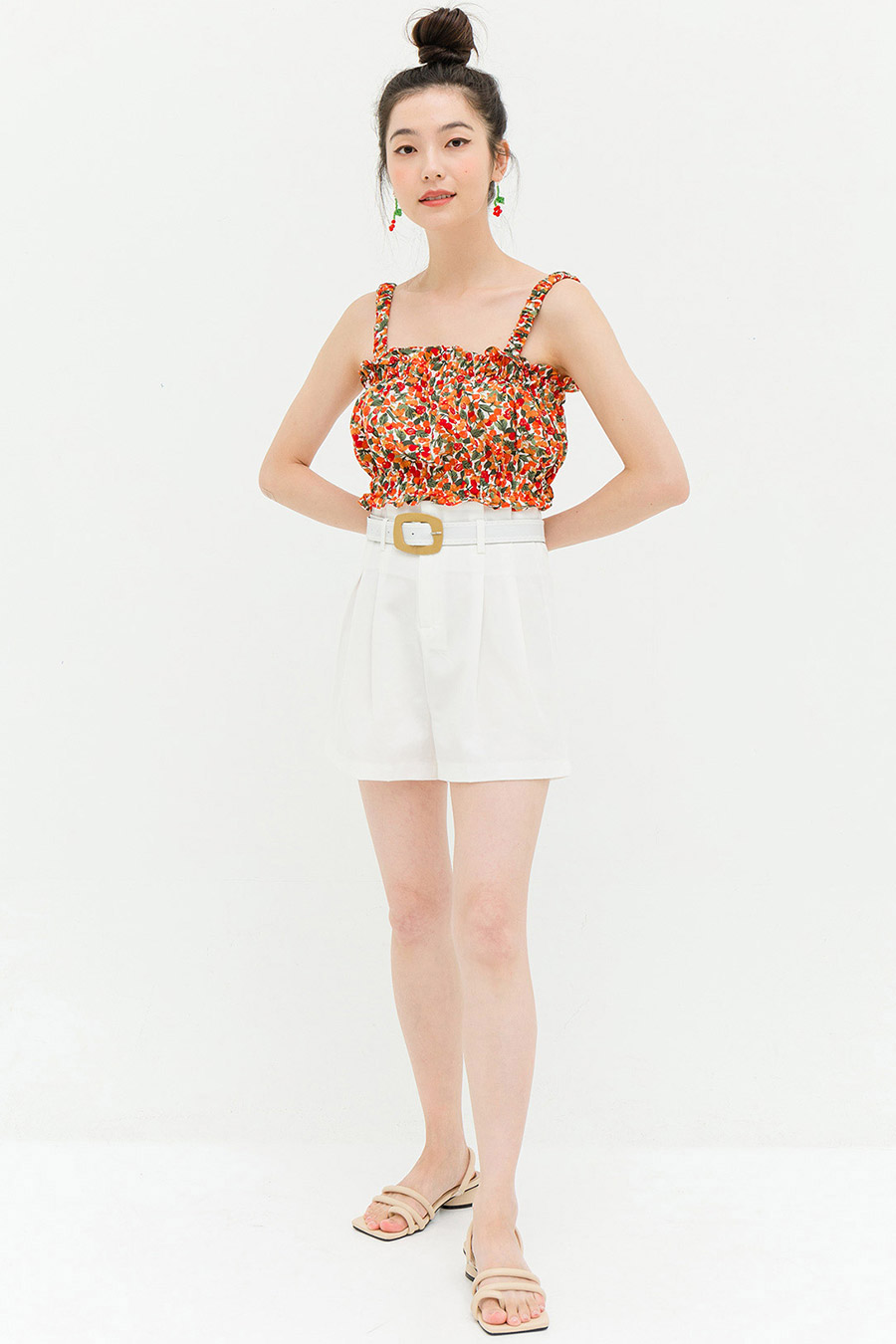 *BO* HALLIE SHORTS - IVORY