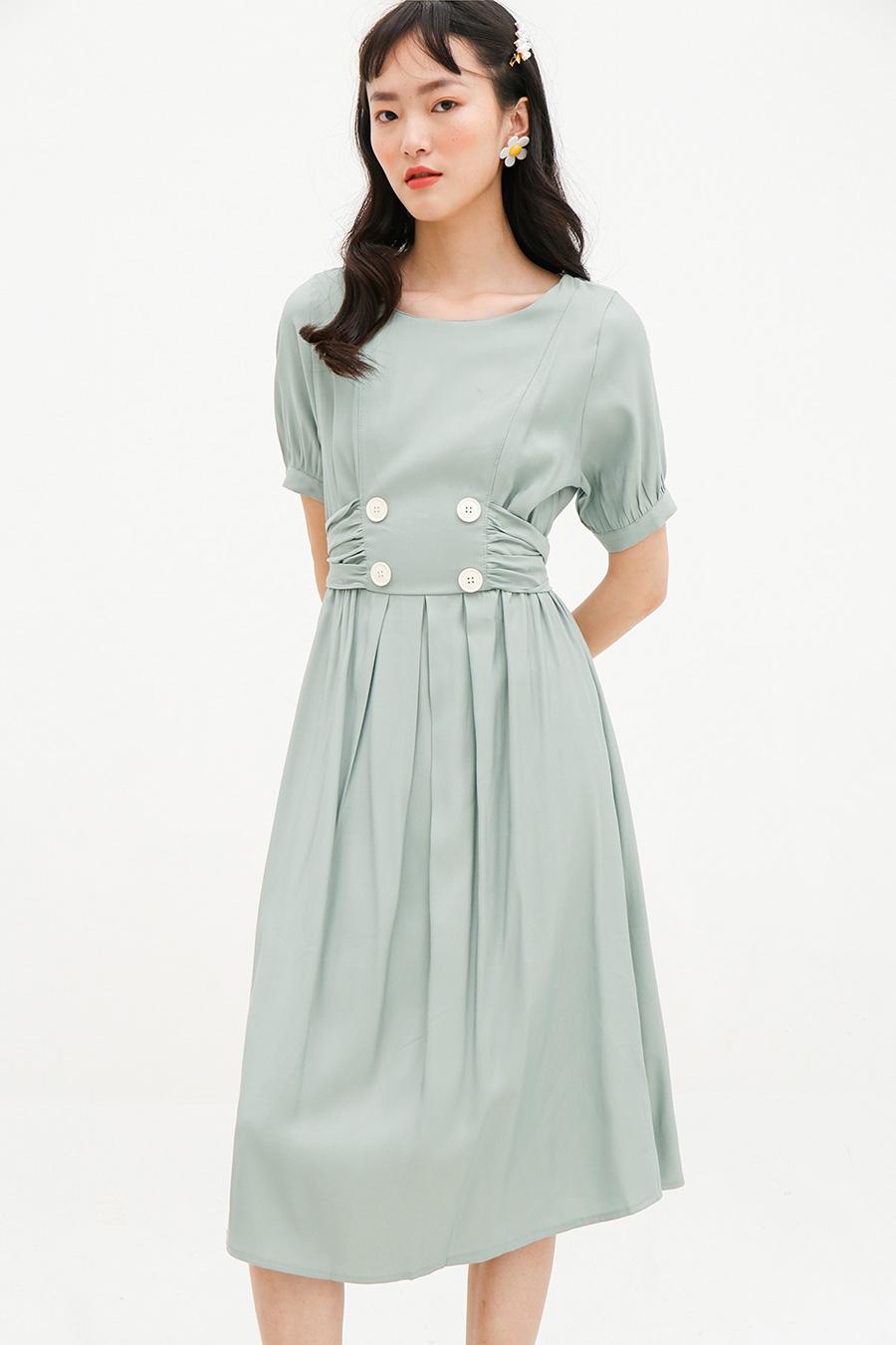 HARMONIE DRESS - SAGE