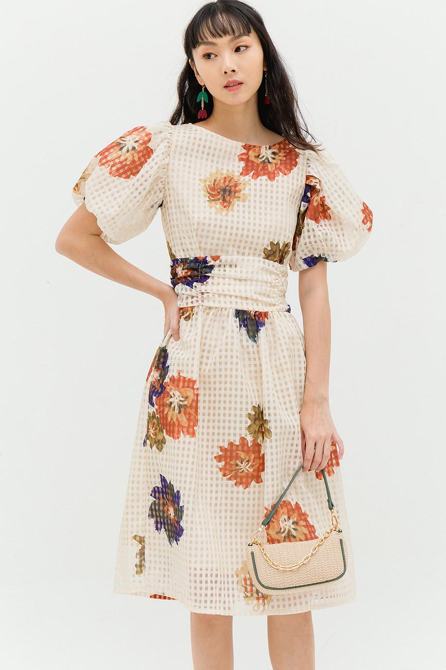 HARMONY DRESS - GINGHAM FLEUR