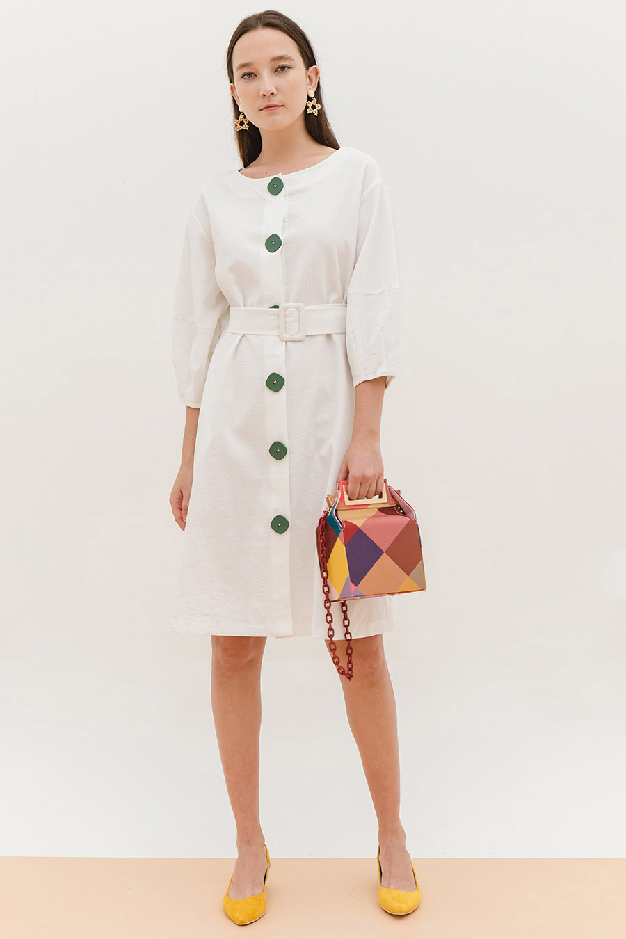 *BO* HEATHER DRESS - IVORY