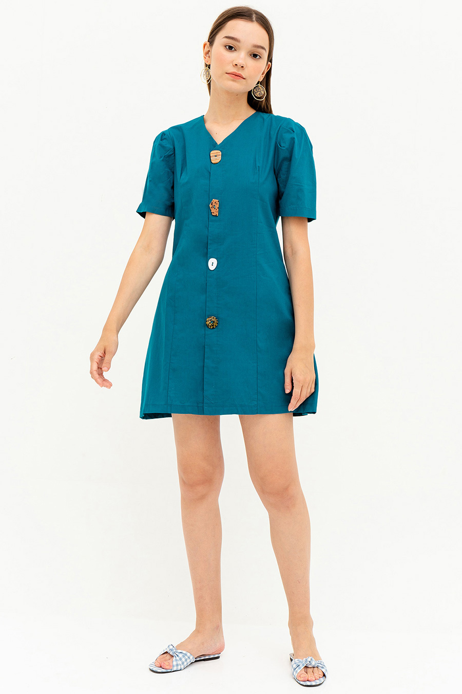 *SALE* HEATHER DRESS - TEAL