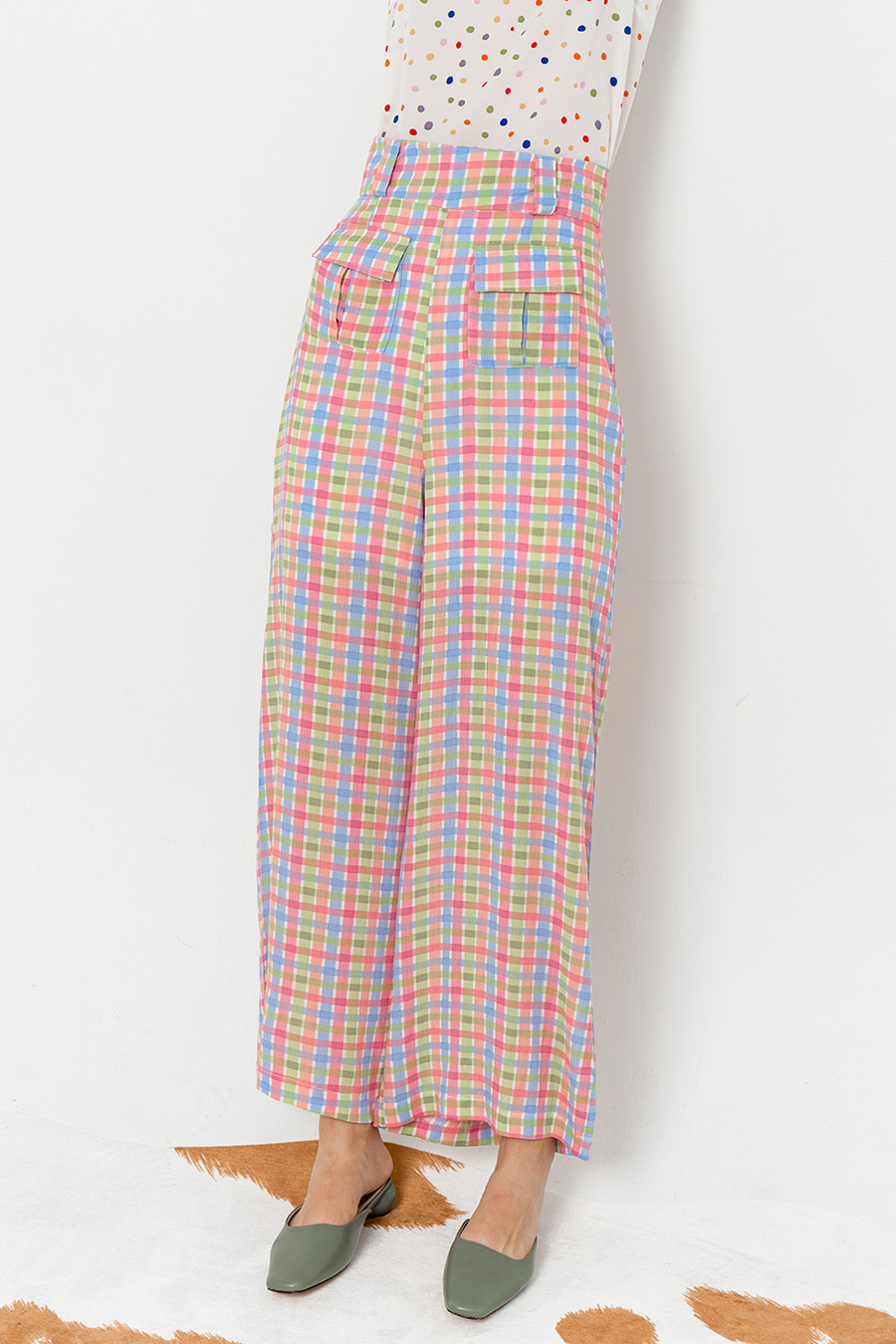 *BO* HEBERT PANTS - SHERBET GRID [BY MODPARADE]