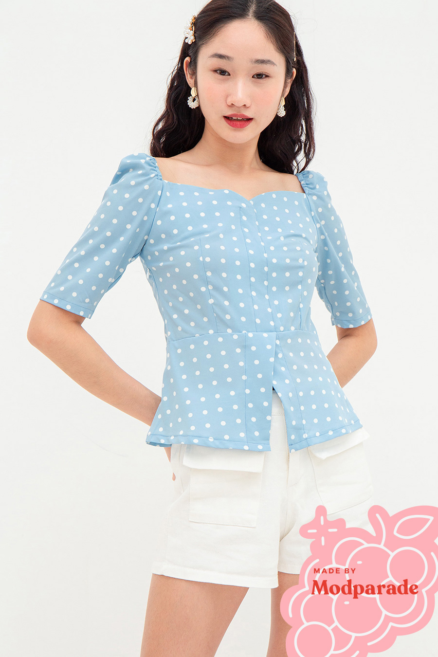 *SALE* HEDDA TOP - DOTTIE [BY MODPARADE]