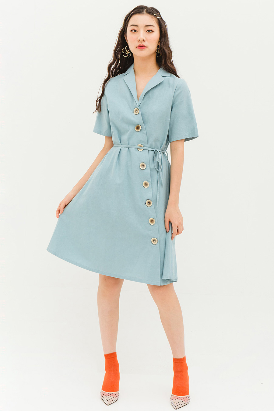 HEIDI DRESS - LAKE BLUE [BY MODPARADE]