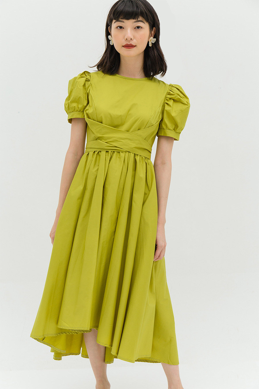 HELOISE DRESS - CHARTREUSE