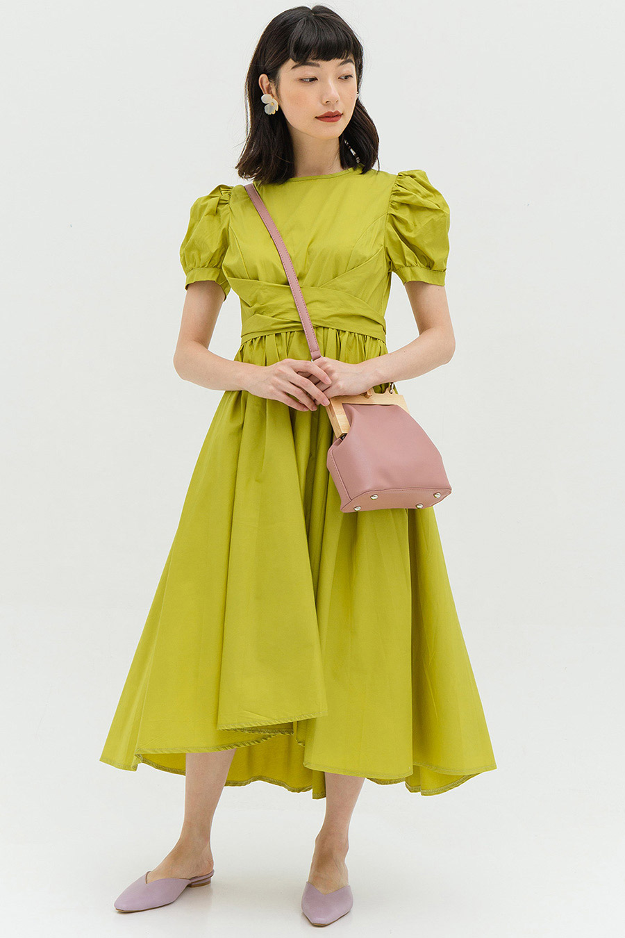 HELOISE DRESS - CHARTREUSE