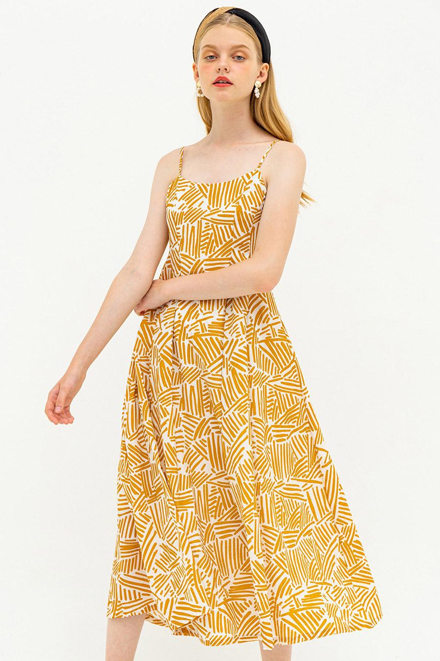 HELSINKI DRESS - BRIMSTONE  [BY MODPARADE]