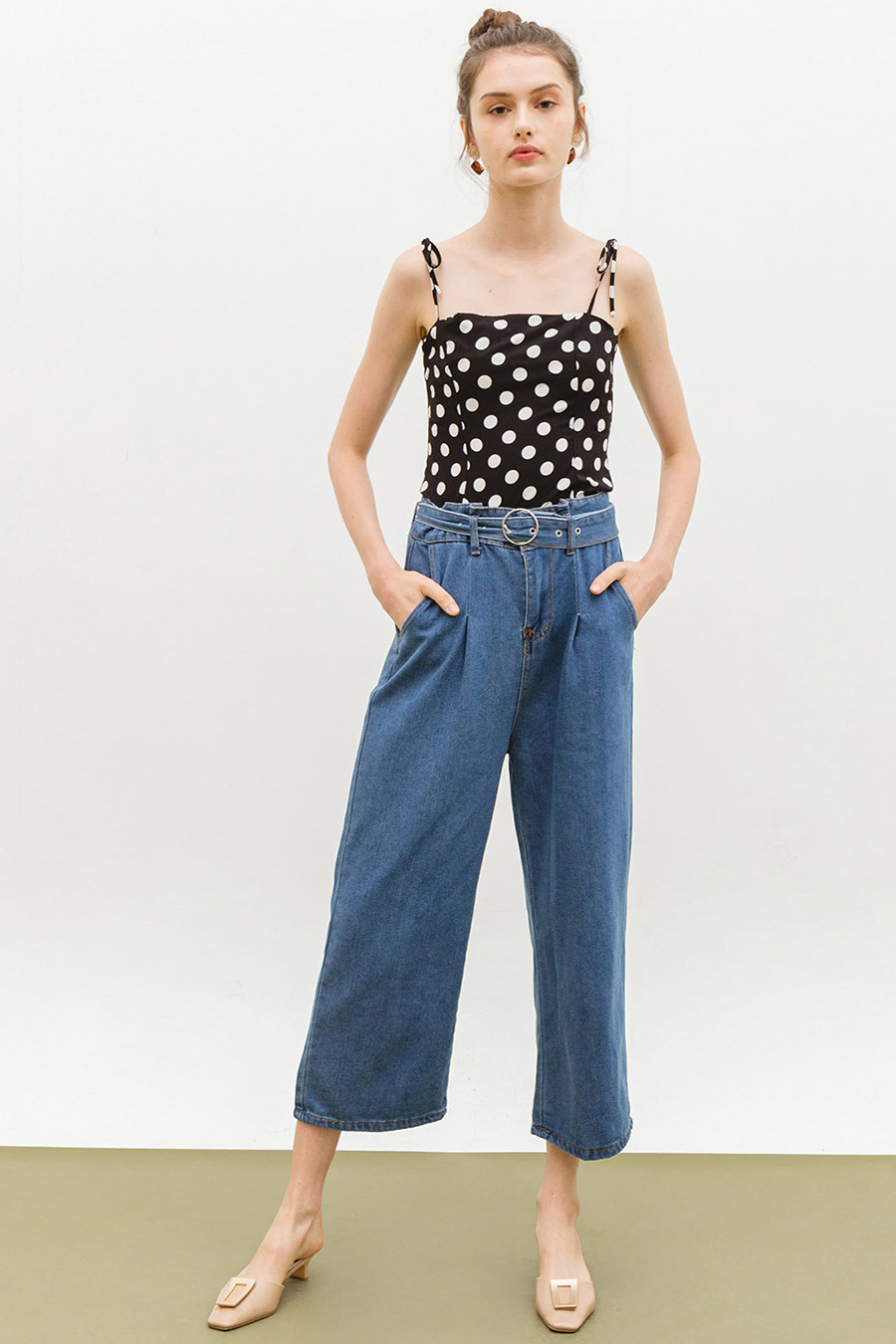HILDE PANTS - DARK WASH