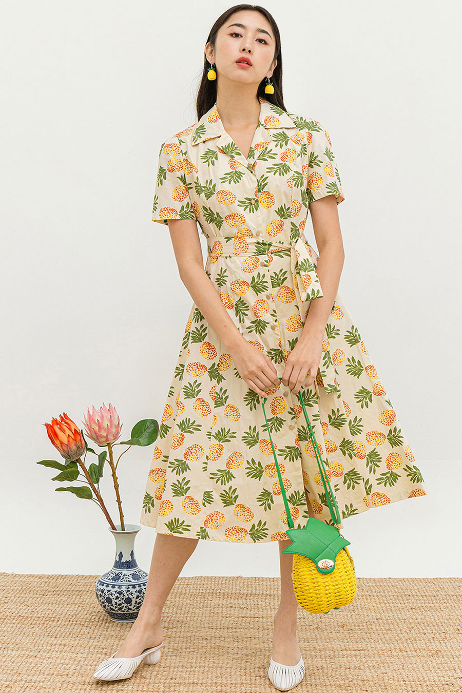 *RESTOCKED* HIROE DRESS - PINEAPPLE