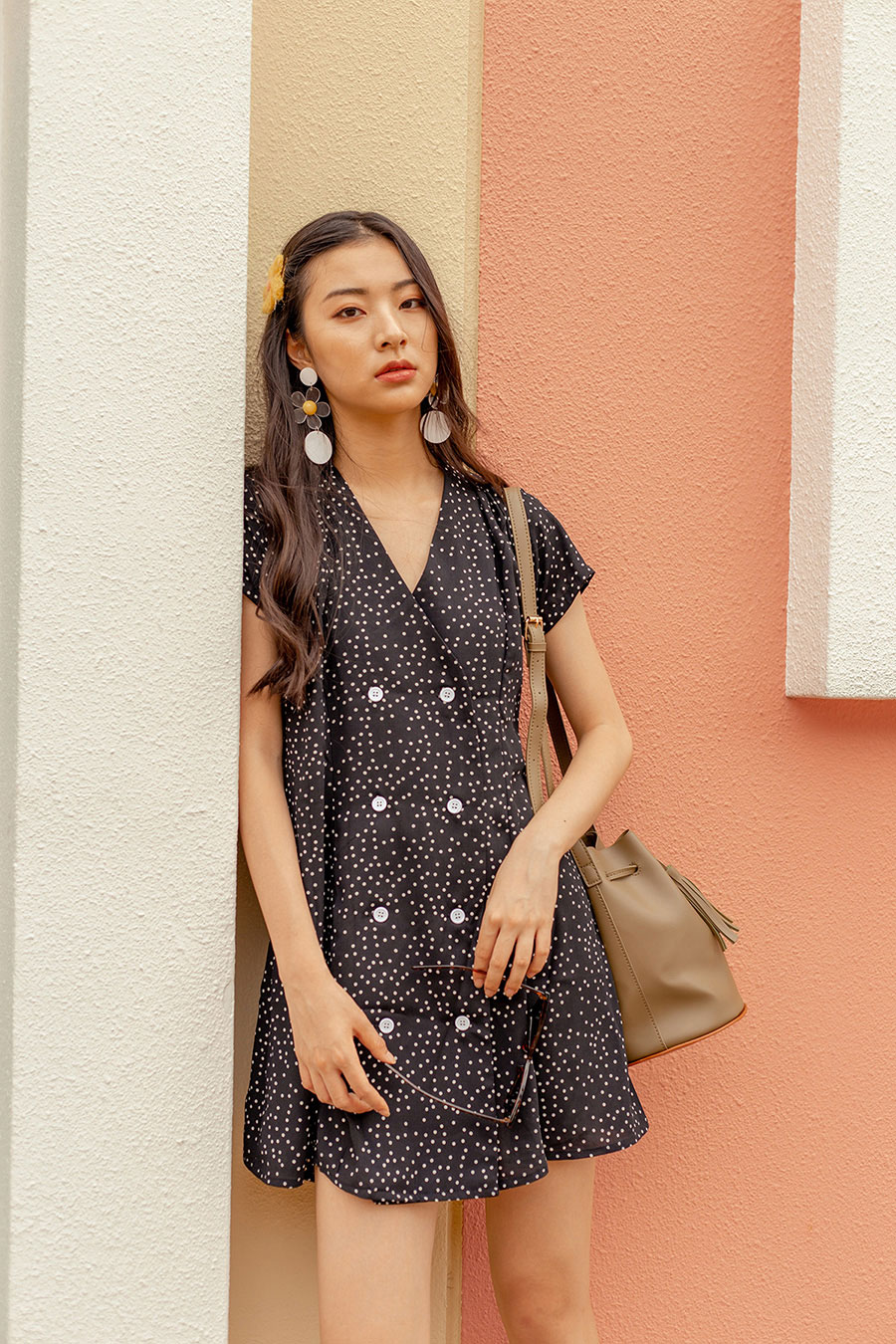 *BO* HOFFMAN DRESS - NOIR DOTTY