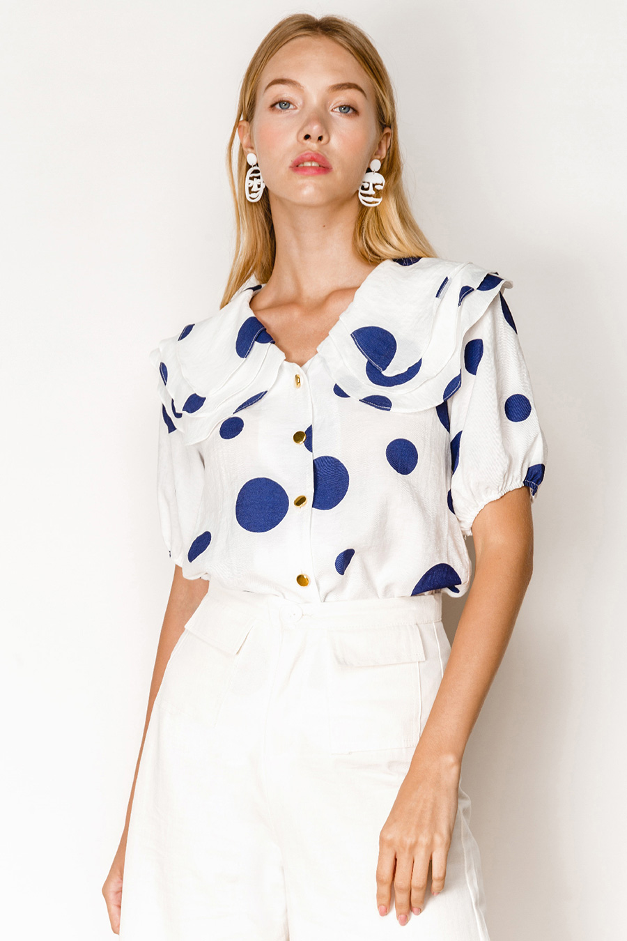*RESTOCKED* HUDSON TOP - COBALT DOTTY