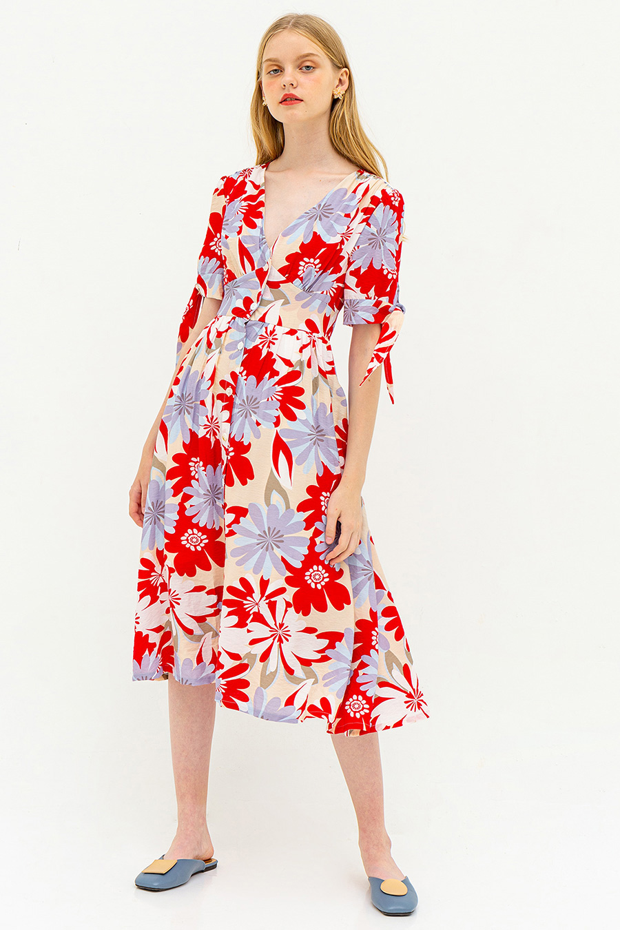 *RESTOCKED* INES DRESS - FLORINE POSSET [BY MODPARADE]