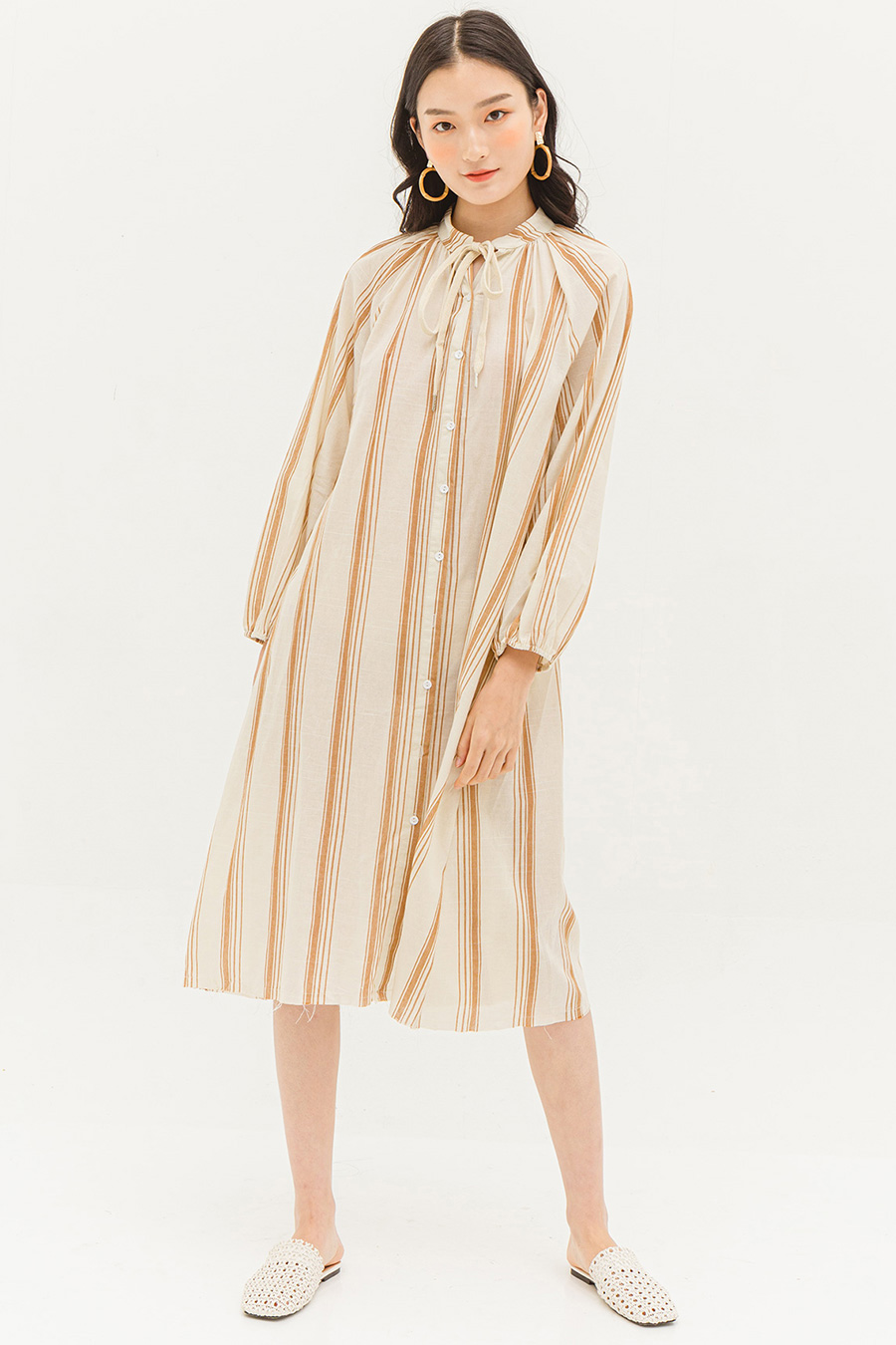 INEZ DRESS - SAHARA STRIPE