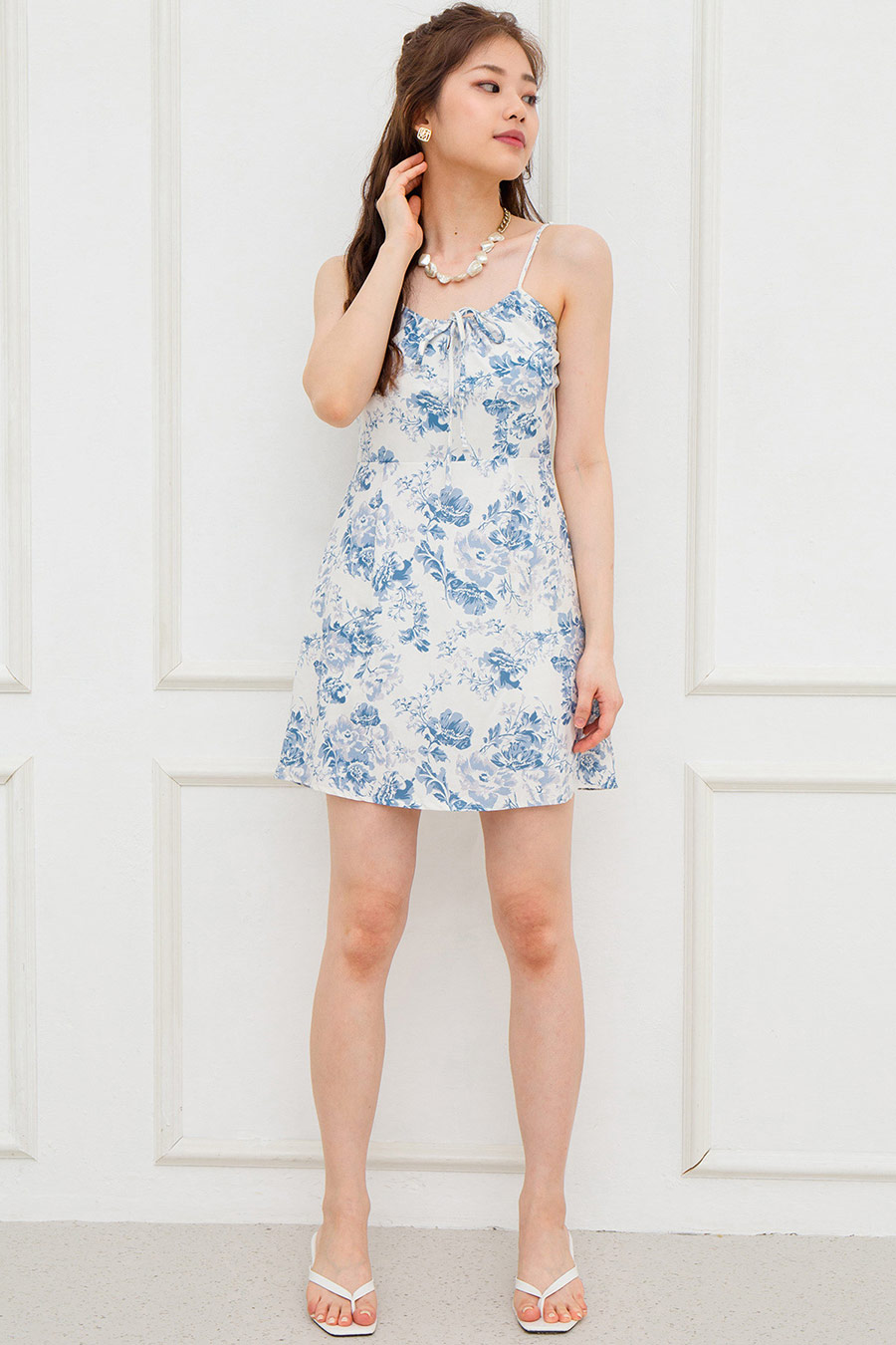*BO* IRENE DRESS - PORCELAIN