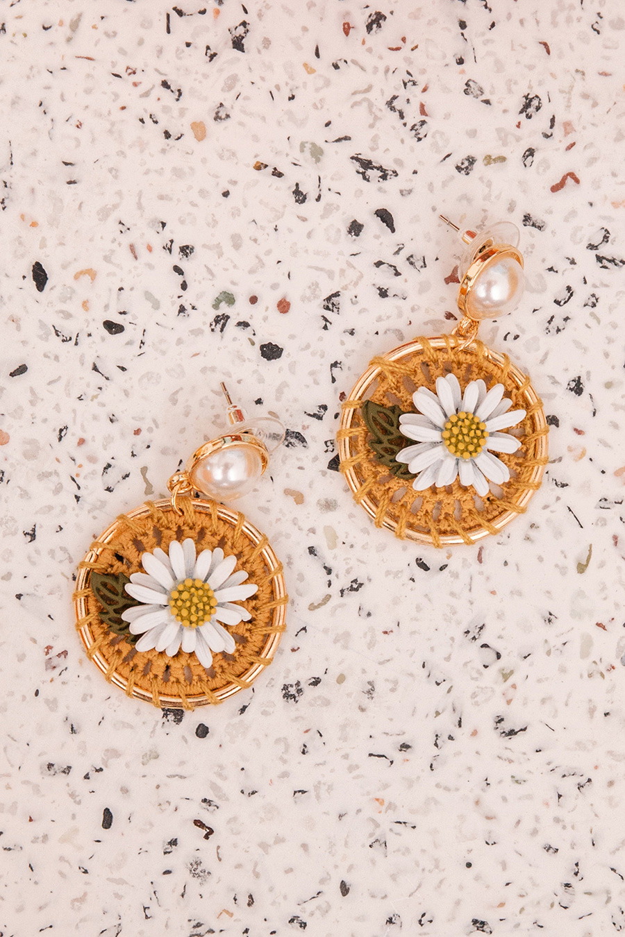 *BO* SUNSHINE EAR STUDS - GOLD