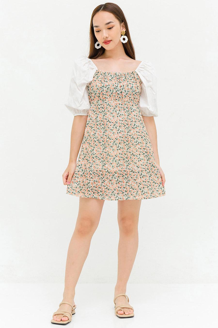 IVY DRESS - IVORY FLEUR