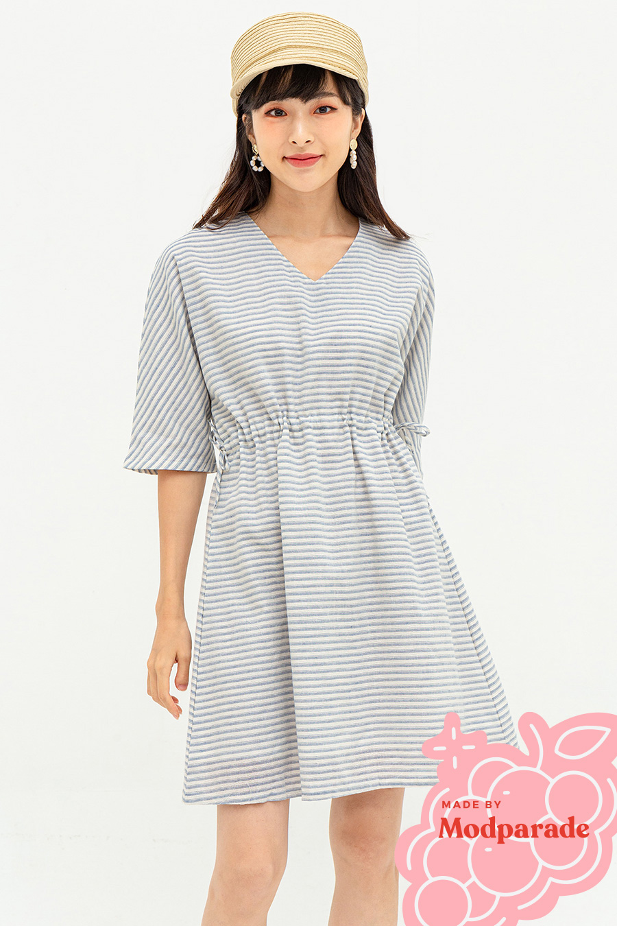 IZZEY DRESS - COPEN STRIPE [BY MODPARADE]