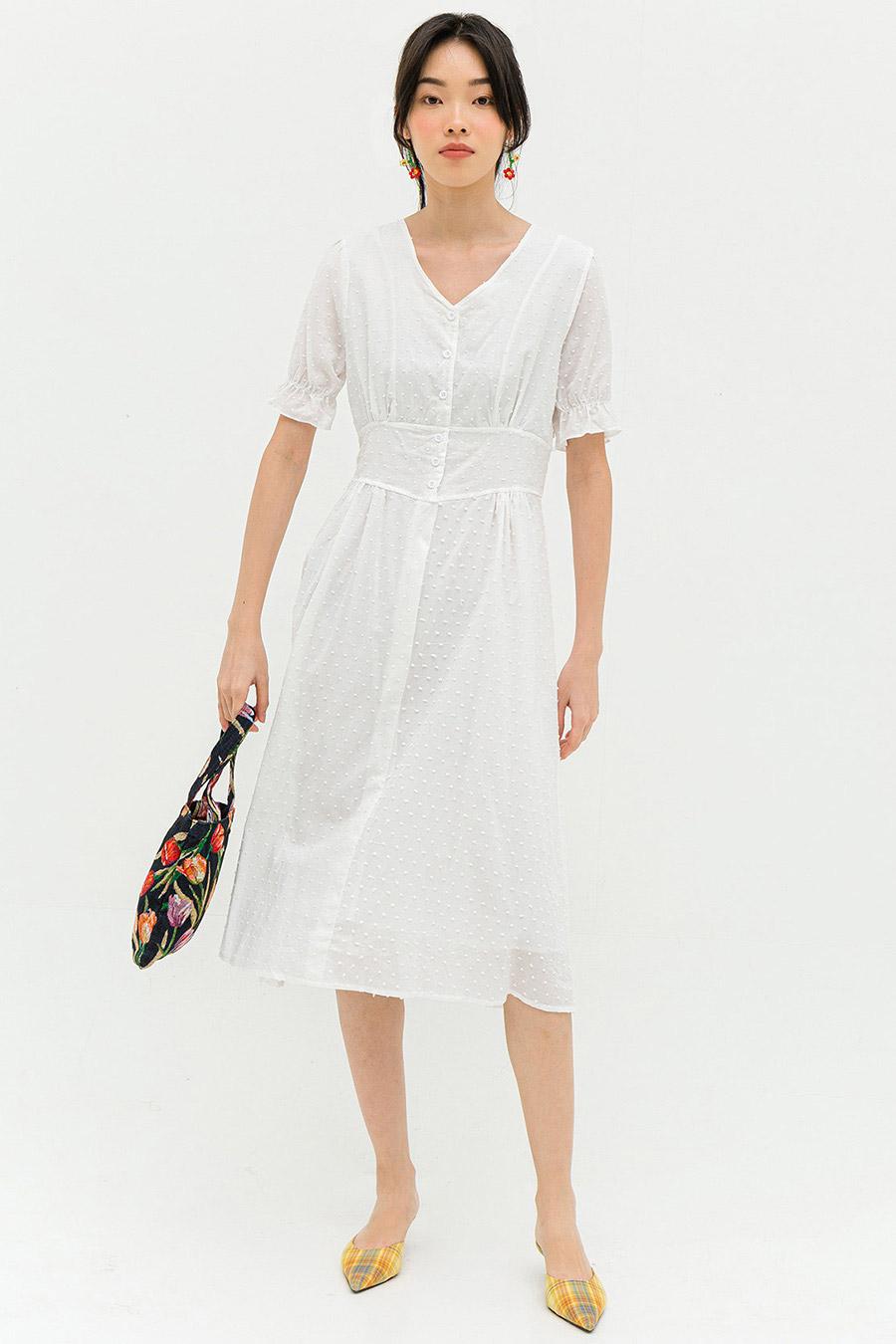 JASMIN DRESS - IVORY