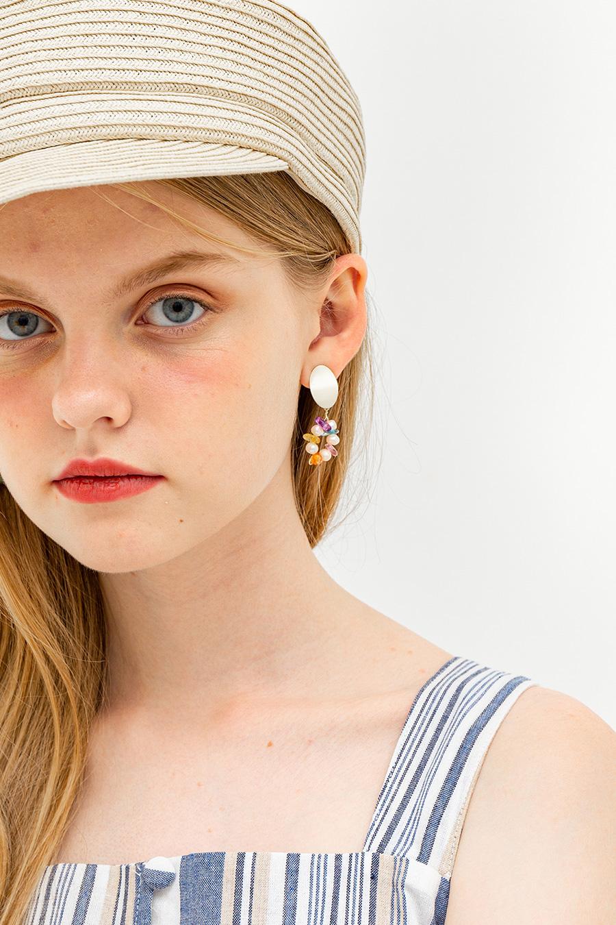 JELLYBEAN EARRINGS - GOLD