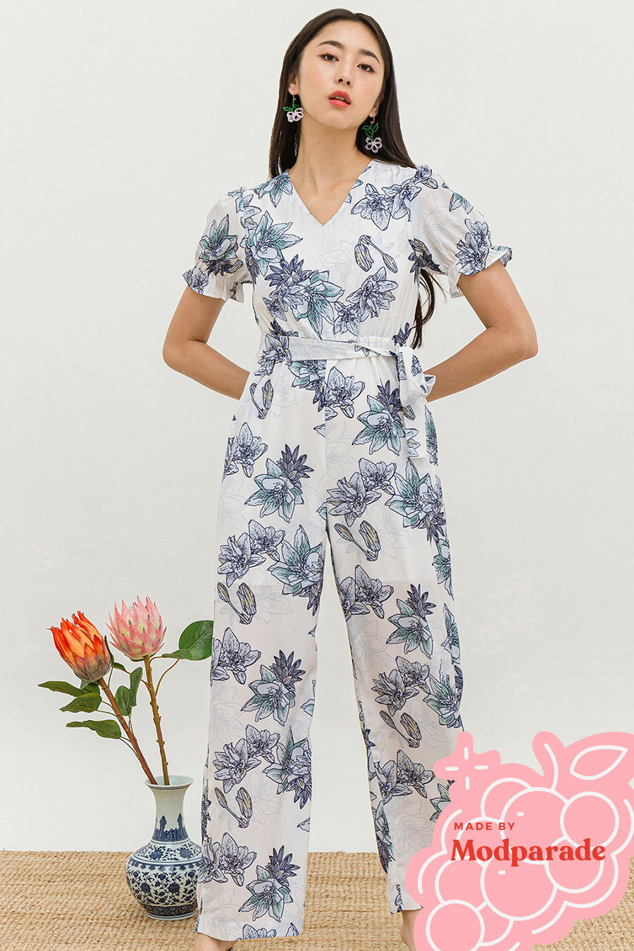 *SALE* JETTE JUMPSUIT - DAYLIGHT LOTUS [BY MODPARADE]