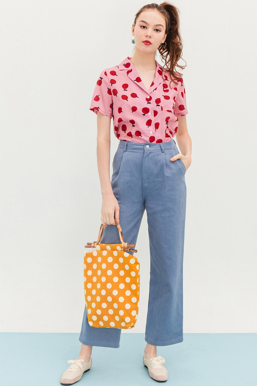JILLY TOP - TANGERINE [BY MODPARADE]