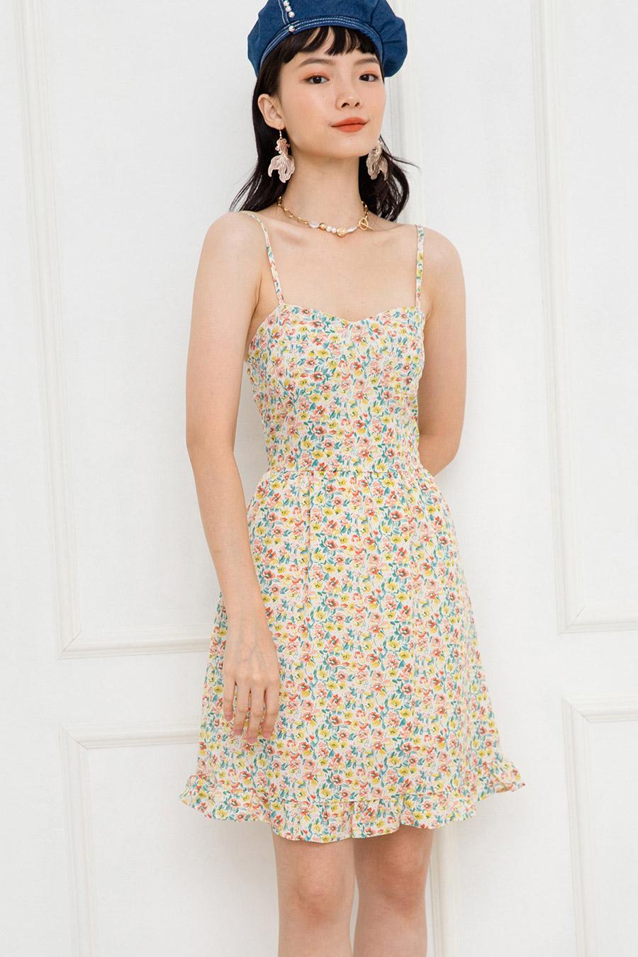 JOLENE DRESS - IVORY FLEUR