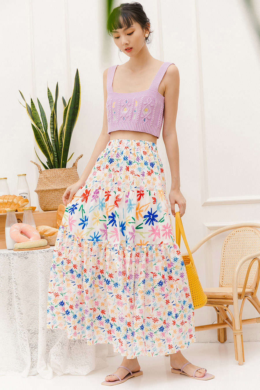 *RESTOCKED* JOLENER SKIRT - WINDFLOWER
