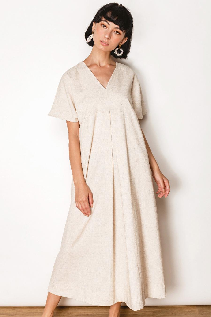 JORDANIA DRESS - BISCOTTI