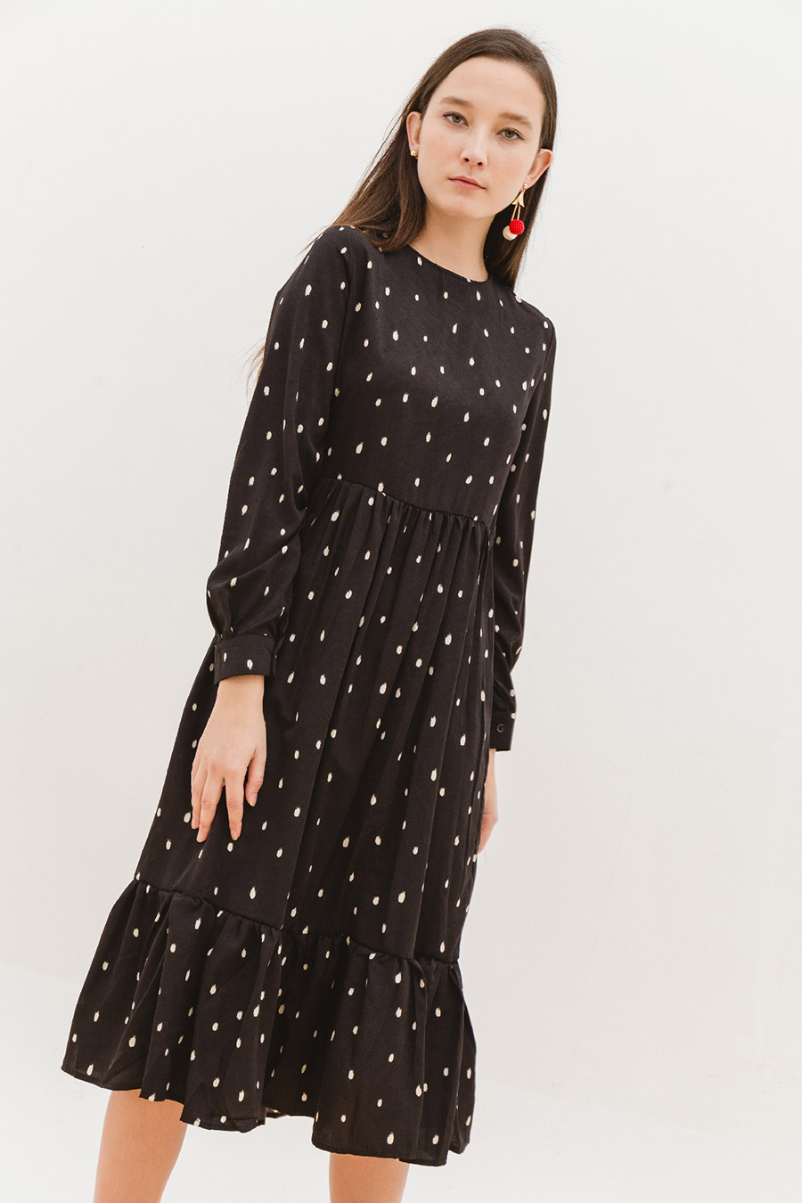 KAVANA DRESS - NOIR DOTTY