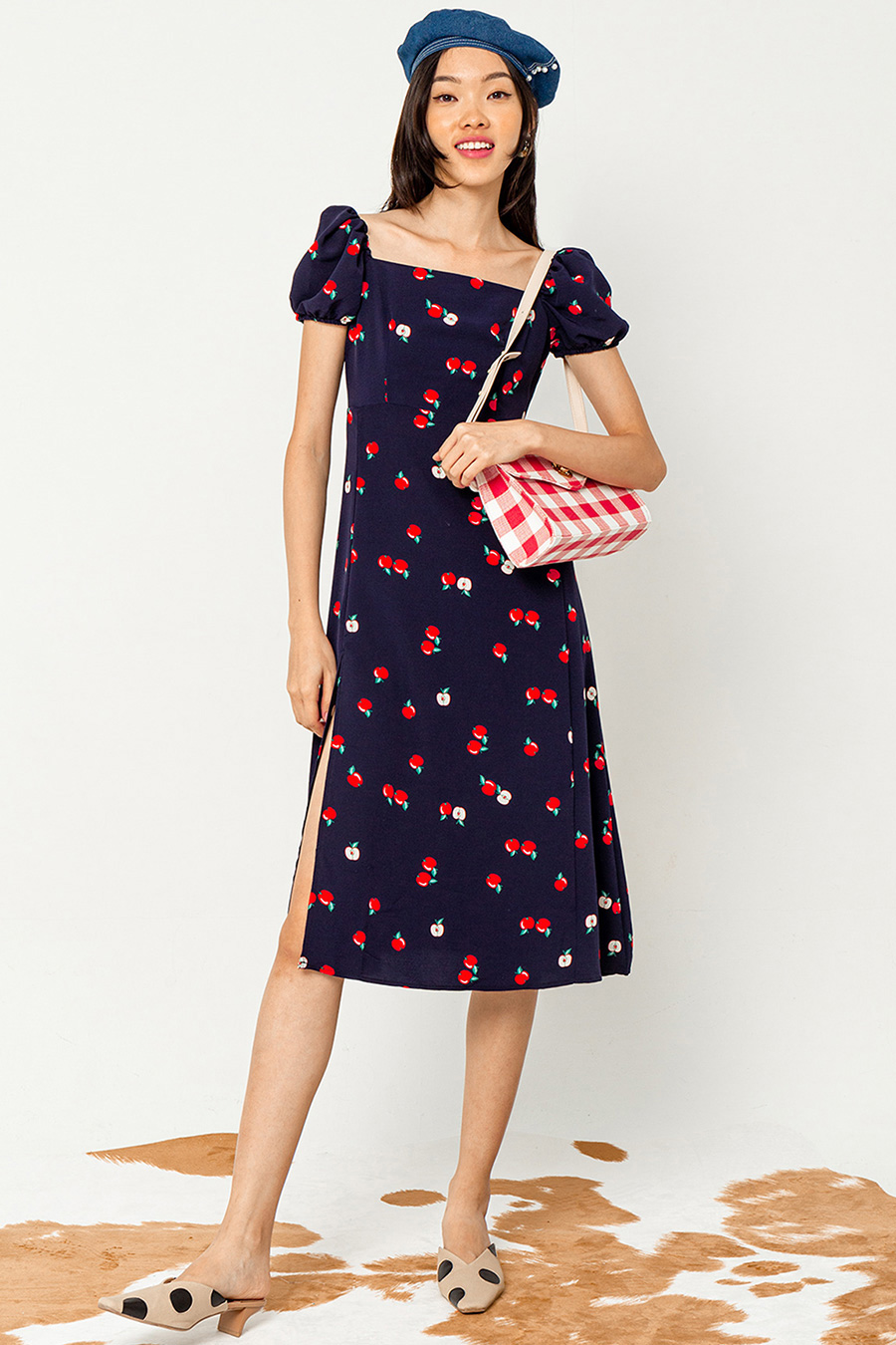 *BO* KAYLEIGH DRESS - APPLES