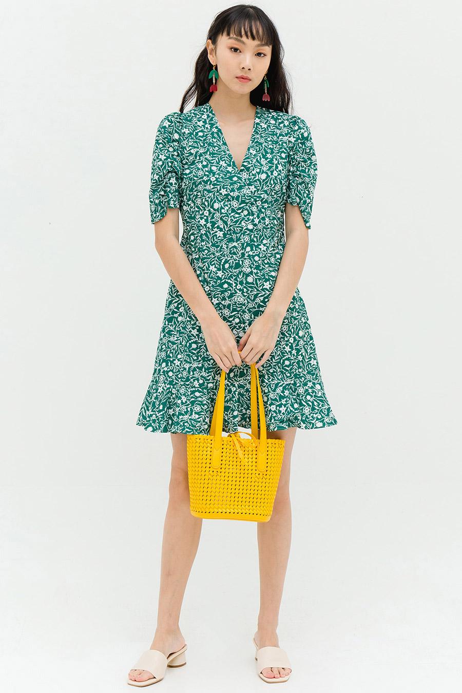 KIARA DRESS - GRASS FLEUR