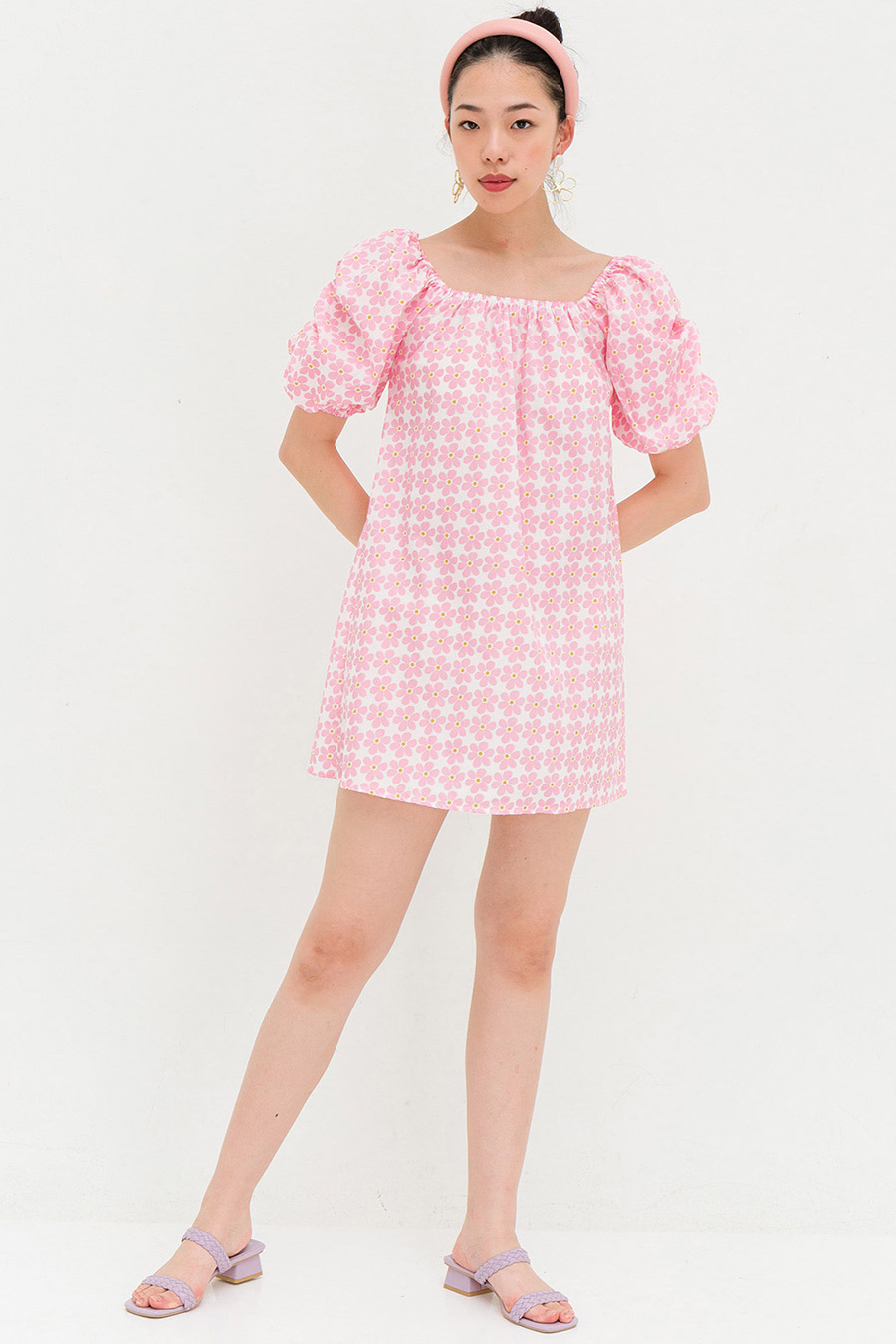 KINSLEY DRESS - TEA ROSE