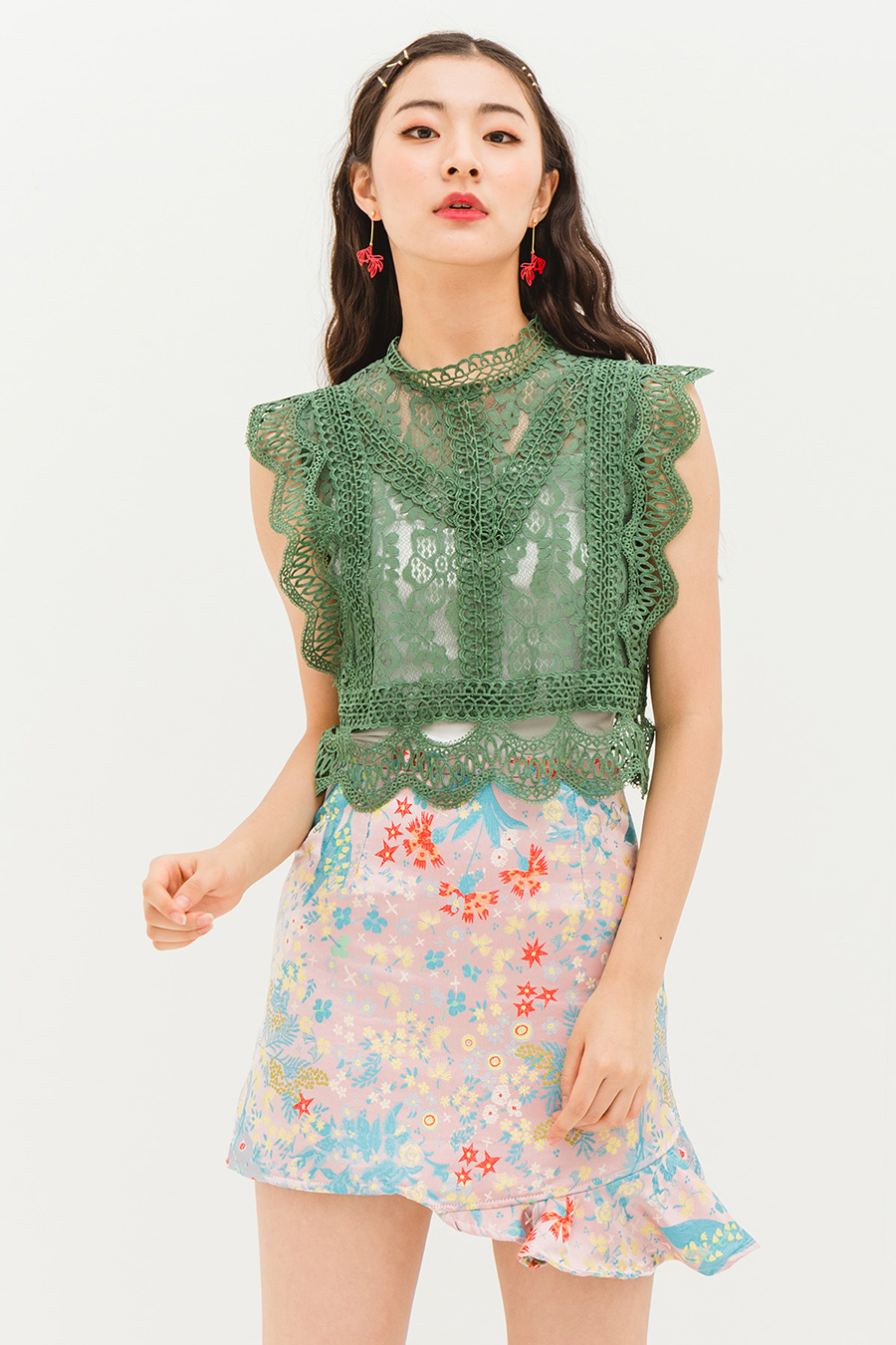 *SALE* KRISTY SKIRT - SPRING GARDEN