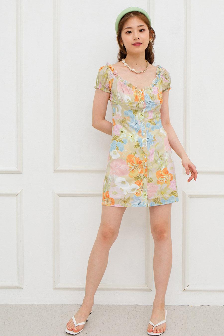 LABELLE DRESS - SAGE FLEUR