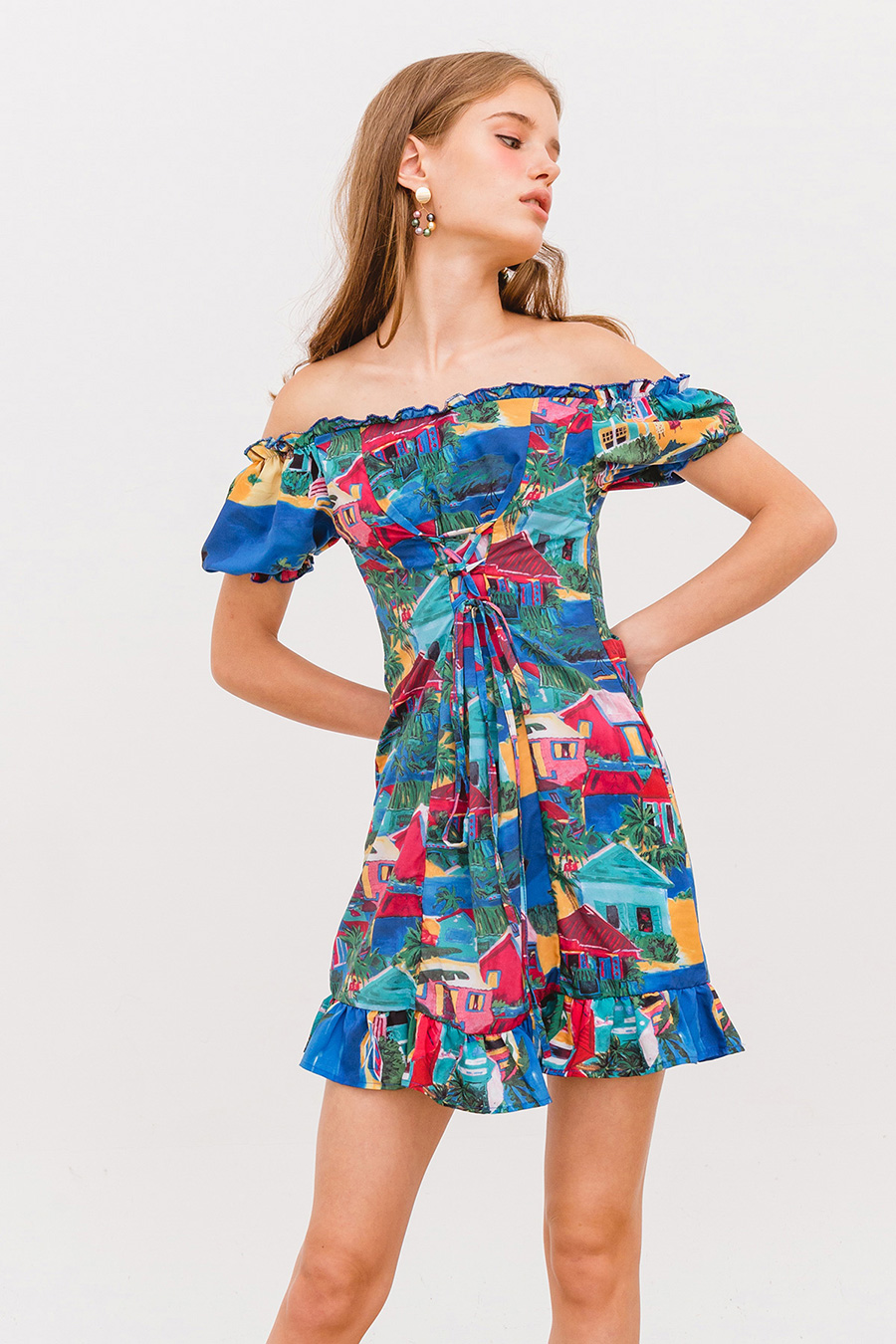 *BO* LAGOON DRESS - PICASSO BLUE