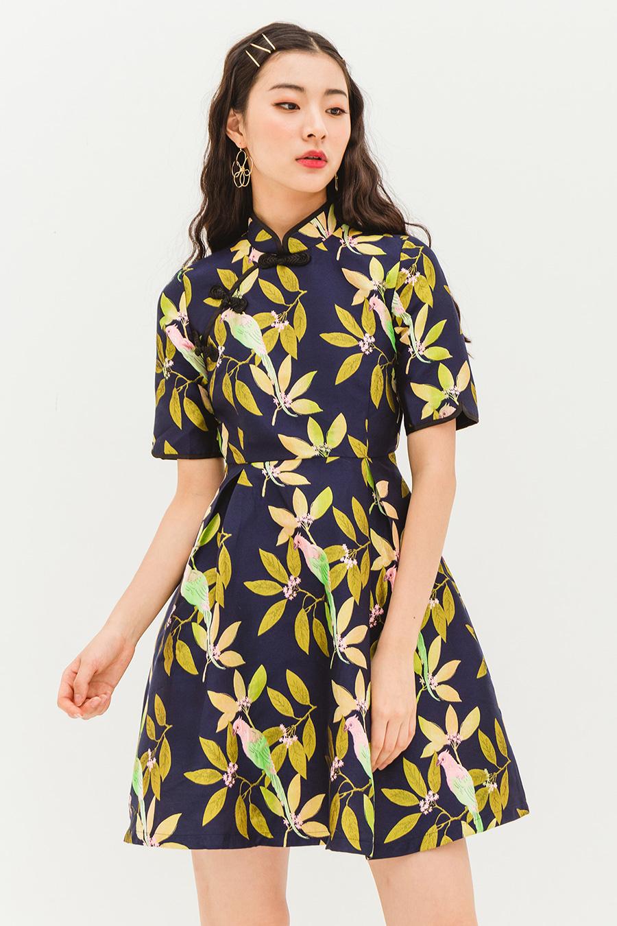 LARA DRESS - MIDNIGHT ORIENT