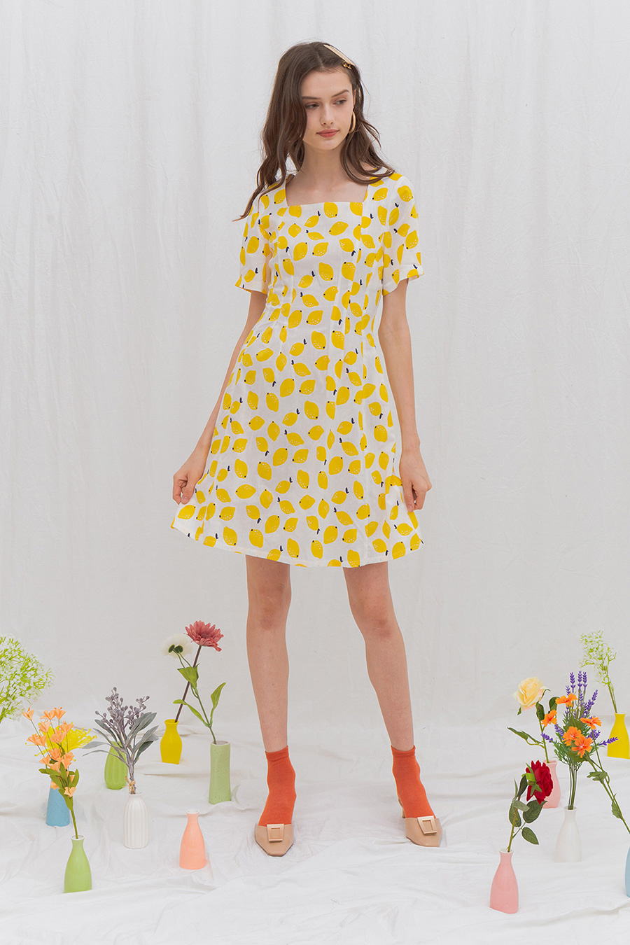 LARKIN DRESS - LEMONADE [BY MODPARADE]