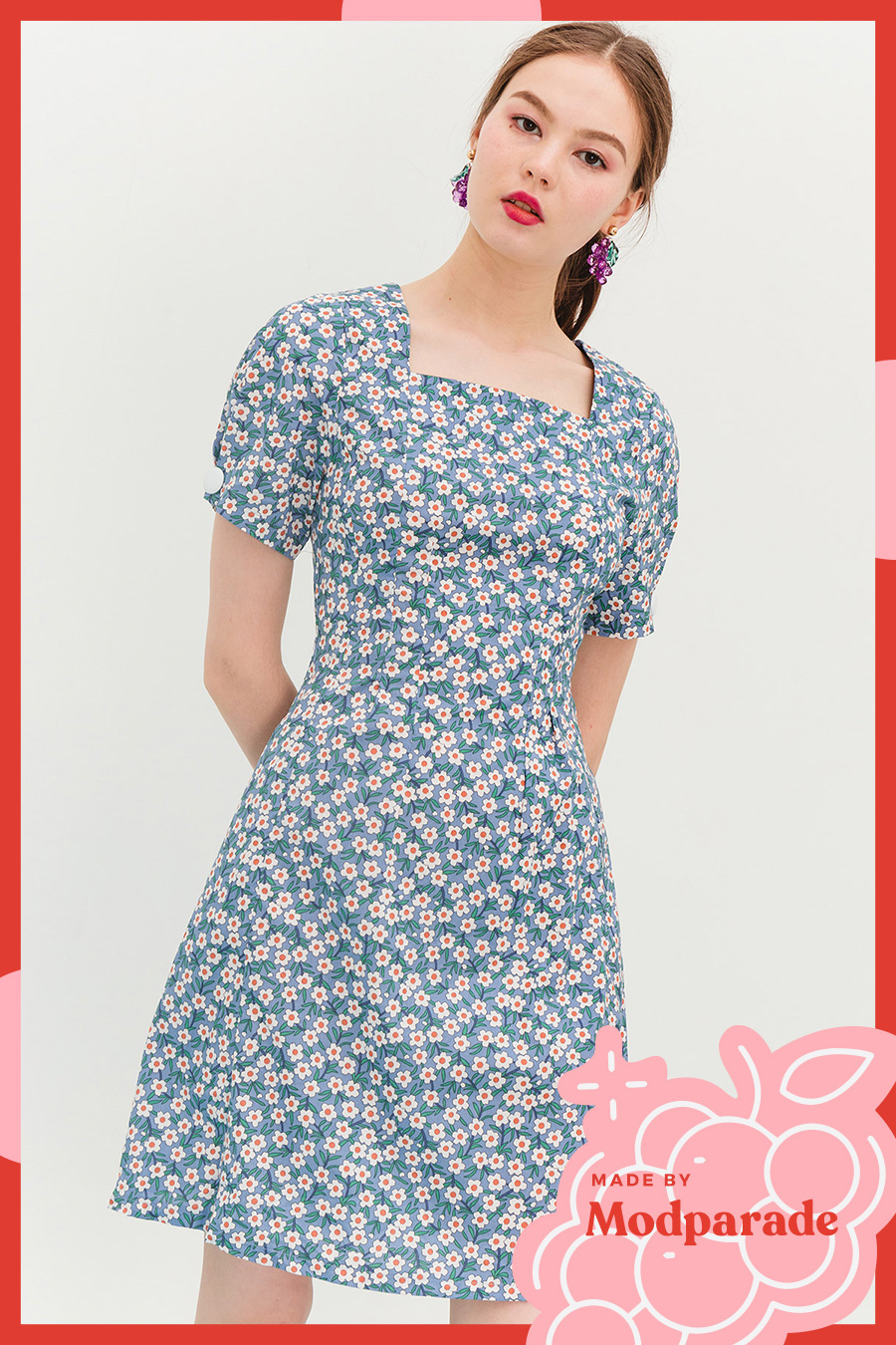 LARKIN DRESS - POPPY [BY MODPARADE]