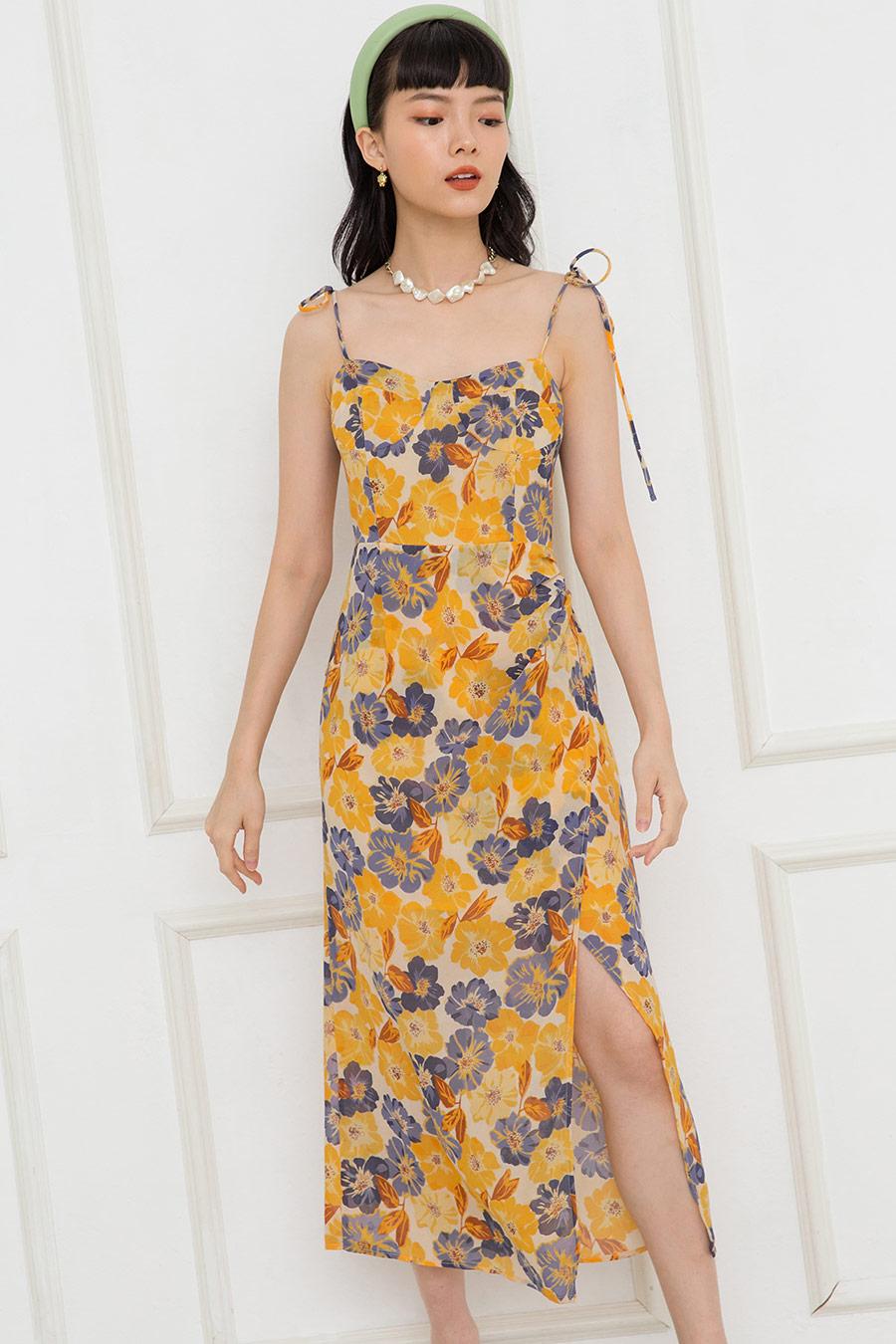 *BO 2* LAURENT DRESS - CREME FLEUR